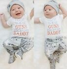 Cute Newborn Baby Boys Toddler t-Shirt Tops +Long Pants Outfits Set Clothes