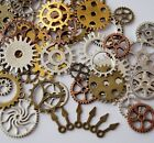 100g LOTS Bronze Silver Gold Steampunk Cogs and Gears Clock Hand Charm DIY