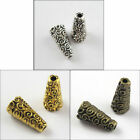 50Pcs Antiqued Silver Gold Bronze Tone Cone-Flower End Bead Caps 18x8x4mm