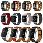 Leather Double Buckle Cuff Strap & Single Tour Band For Apple Watch iWatch 2 /1