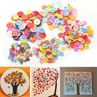 100 PCS 4 Holes 5 Sizes Round Buttons Clothing Sewing DIY Craft for Kids Cute