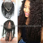 360 Lace Frontal Closure 100% 8A Indian Virgin Human Hair Deep Curly