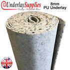 8mm Thick PU Carpet Underlay Order per m2 UK Manufactured Quality Luxury Feel