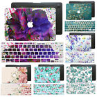 Beautiful Flower Hard Case+Soft Silicon Floral Keyboard Cover for Macbook Laptop