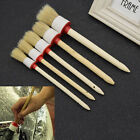 Wooden Handle Round Bristles Brushes Car Paint Coating Supplies Cleaning Tools