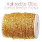 Gold Chain for Jewellery Making 10 Meters Gold Plated Same day UK dispatch