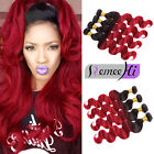 1 Bundles/100g Hair Weft Brazilian Body Wave 1b/Red Ombre Human Hair Extensions