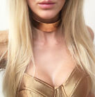 Chunky Metal Choker Statement Necklace Gold & Silver With Chain Celeb Style