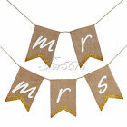 """mrmrs"" Burlap Banner Chair Sign For Rustic Wedding Party Props Chair Decoration"