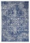 Persian Design Transitional Floor Area Rug Istanbul Navy Wash Allover