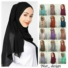 High Quality Plain Bubble Chiffon Scarf Shawl Hijab Unstitched 180 x 75 cm