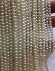 wholesale 20 strands 3mm -3.5mm white real pearl Free shipping