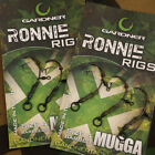 Gardner Tackle Ready Tied Ronnie Rigs (Pack of 3) - Carp Pop Up Coarse Fishing