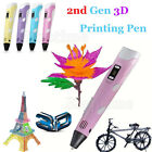 LCD 3D Printing Pen 2nd Crafting Doodle Drawing Arts Printer + PLA/ABS Filament