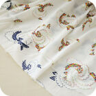 "White 100% Cotton Fabric Embroidery DIY Cloth Dress Skirt 55"" wide 1 yard"