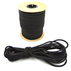 "Внешний вид - 3/8"" Black Shock Cord Marine Grade Bungee Heavy Duty Tie Down Stretch Rope Band"