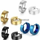 3pairs Stainless Steel Men Women Small Hoop Huggie Hinged Ear Stud Earrings Gift