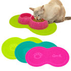 Pawprint Dog Cat Litter Box Mat Kitty Kitten Dish Bowl Tray Tidy Clean Blue Pink