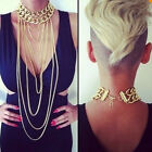 FASHION GOLD NECKLACE SEXY BODY CHAIN MULTILAYER HARNESS SLAVE NEW BEACH JEWELRY