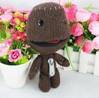 """New Little Big Planet 2 Game Brown Sackboy 6.4"""" Plush Toy Stuffed Knitted Doll"""