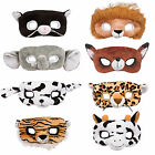 Adult Animal Plush Eye Face Masks Fancy Dress Party Role Play Costume Accessory