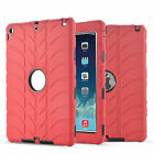 Duty Hybrid Rugged Shockproof Soft Rubber Cover Case For iPad 2/3/4 Air Mini 3 4