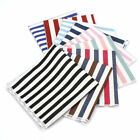 9.8 in Mens Cotton Casual Handkerchief Multicolor Striped Pocket Square Hanky