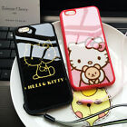 Cartoon Hello Kitty Case Cover Skin For Iphone 7 6 6s Plus 5 5s Se Rubber Strap