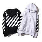 Off White Mens Women Striped Hoodie Coat Jacket Sweater Sportwear Virgil Abloh