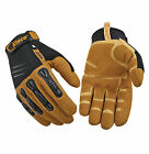 Kinco Pro Foreman MiraX2 Washable Leather Work Gloves Impact Protection 4 Sizes