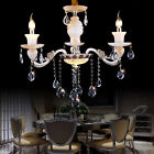 STO European Classical Crystal Candle Chandeliers Livingroom Pendant Lamp Light