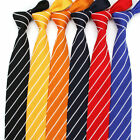 6CM Mens Knitted Striped Neck Ties Polyester Knitting Narrow Tie Wedding Necktie