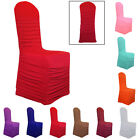 Wedding Ruched Spandex Chair Cover Flat Front Party Banquet - 9 Colours