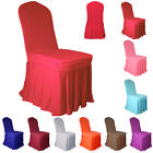 Pleated Skirt Spandex Chair Cover FLAT Front Cover Wedding Party Banquet Colours