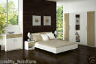 Bedroom Furniture Set 5 Door Wardrobe 230cm Bed Chest of Drawers Bedside Cabinet