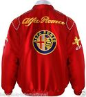 JACKET-BLOUSON-JAQUETTE .ALFA ROMEO RED  RACING TEAM ALL LOGO IN BRODERY