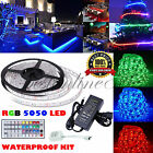 5M 10M RGB 5050 SMD 300 Leds Strip LED Flexible Light 12V Remote Power Adapter #