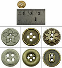 DIY Metal Craft Sewing Accessories Wholesale Round Buttons Pack Of 140 Pieces