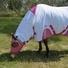 LOVE MY HORSE  5'9 - 6'3 230 gsm Air Mesh / Lycra Cbo Horse Rug White / Pink
