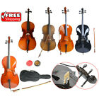 Kyпить 1/2 3/4 4/4 Size Basswood Acoustic Cello +Bag+ Bow+ Rosin+ Bridge на еВаy.соm
