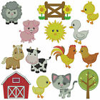 FARM ANIMALS 2 ** Machine Embroidery Patterns 14 designs, 3 sizes