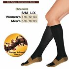 4 Pairs Copper Compression Socks 20-30mmHg Graduated Support Men's Women's