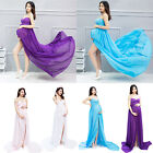 Sexy Women Pregnant Maternity Strapless Chiffon Gown Dress Photo Prop