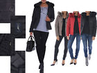 ARMANI JEANS Womens Ladies Quilted Padded Puffer Bubble Fur Jacket Coat Girls AJ