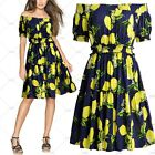 Women's Summer Casual Outdoor Hawaiian Cocktail Evening Party Sexy Swing Dresses