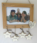 unique wooden personalised handmade oak photo frame Grandchildren