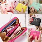 Womens Wallet Leather Zip Coin Purse Clutch Handbag Small Mini Card Holder Cute image