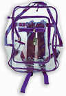Clear Plastic See Through Multi Color Transparent Backpack