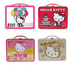 Hello Kitty School Tin Storage Embossed Tote Snack Lunch Box Bag by Sanrio NEW