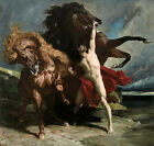 Automedon with the Horses of Achilles (French Neoclassical Myth Art Print)